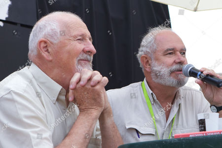 Stock Photo of Leon Maille (L) and Christian Rouaud (R)