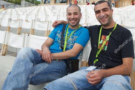Stock Photo of Tarek Aggoun and Hakim Zouhani