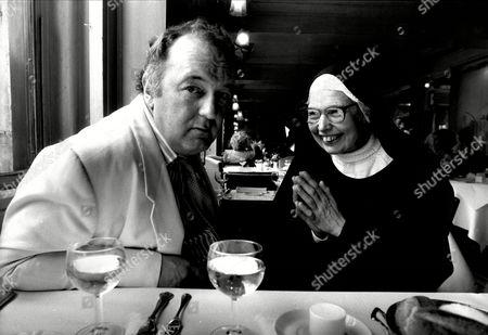Peter Langhan Of Langhan's Brasserie With Sister Wendy Beckett