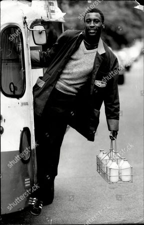 Editorial picture of Black Milkman Clifton Webb Who Is A Rarity According To The Commission For Racial Equality