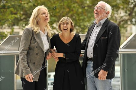 (L to R) Amanda Nevill the BFI Chief Executive, Sandra Hebron the BFI London Film Festival artistic director and Terence Davies