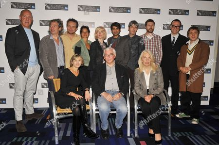 (L to R front row) Sandra Hebron the BFI London Film Festival artistic director, Terence Davies and Amanda Nevill the BFI Chief Executive. (L to R back row) Richard Jobson, Dexter Fletcher, Eddie Marsan, Tinge Krishnan, Carol Morley, Nirpal Bhogal, Paul Kelly, Andrew Haigh, Michael Haydon and Dan Edelstyn