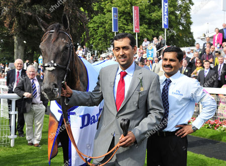 (R) Mahmood Al Zarooni, trainer after Blue Bunting and Frankie Dettori win The Darley Yorkshire Oaks .