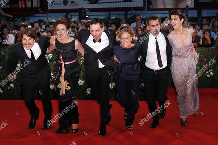 Denis Fasolo, Michela Cescon, Filippo Timi, Cristina Comencini, Thomas Trabacchi and Claudia Pandolfi