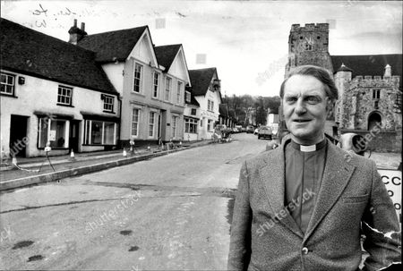 The Rev. Anthony Smith In The Village Of Wrotham. An Unprecedented Host Of Stars Will Descend On The Village To Begin Shooting The New Agatha Christie All-star Thriller The Mirror Crack'd Directed By Guy Hamilton.
