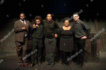 Mncedisi Shabangu (L), Hamilton Dhlamini (C), Busi Zokufa and Adrian Kohler
