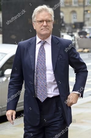Stock Photo of Solicitor General, Edward Garnier QC MP arriving at the Cabinet office this morning