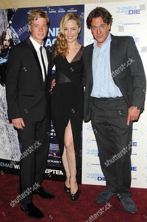 Ed Speleers, Melissa George and Julian Gilbey