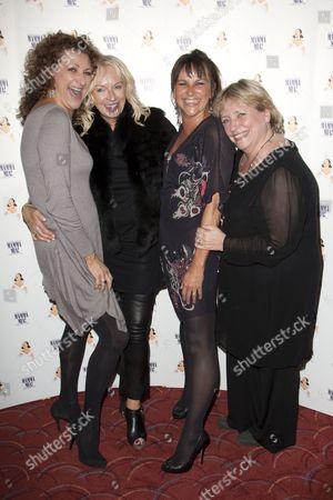 Kim Ismay (Tanya), Judy Craymer (Producer), Sally Ann Triplett (Donna Sheridan) and Joanna Monro (Rosie)
