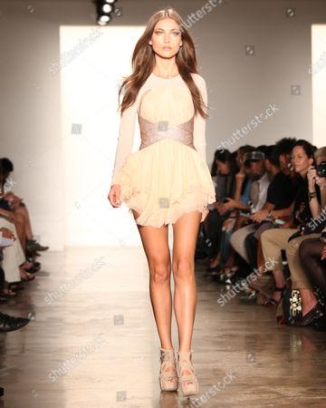 Editorial image of Kevork Kiledjian Show, Sping 2012 Mercedes-Benz Fashion Week, New York, America - 08 Sep 2011