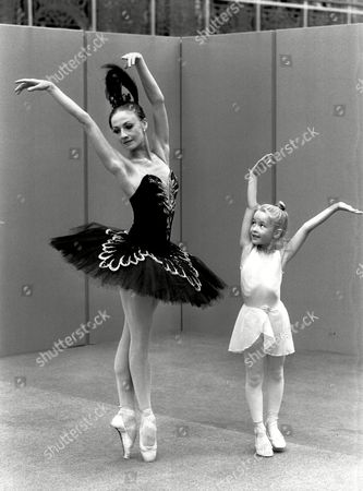 Olga Likhovskaya - Ballet Dancer With Little Hannah Cowley Aged 7 - 1988