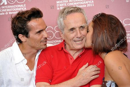 Marco Bellocchio with son Pier Giorgio Bellocchio and daughter Elena Bellocchio