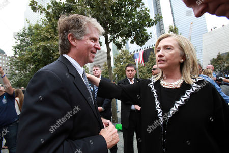 United States Secretary of State Hillary Clinton with Manhattan District Attorney Cyrus Vance Jr.