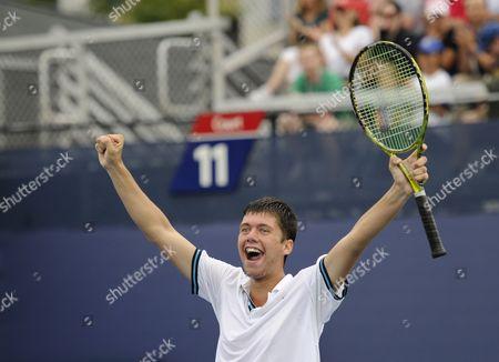 Oliver Golding celebrates winning the Junior Boys final
