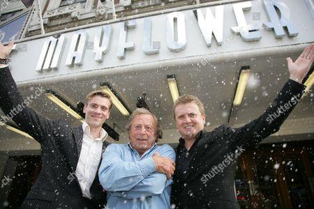 Stock Picture of Adam Cooper, Ken Farrington and Aled Jones