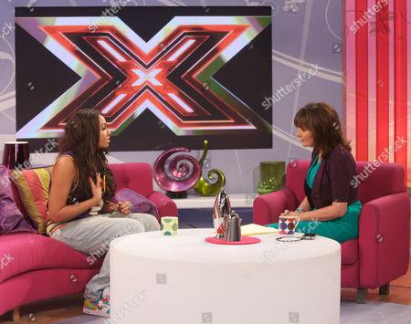 Chrissie Pitt with Presenter Lorraine Kelly