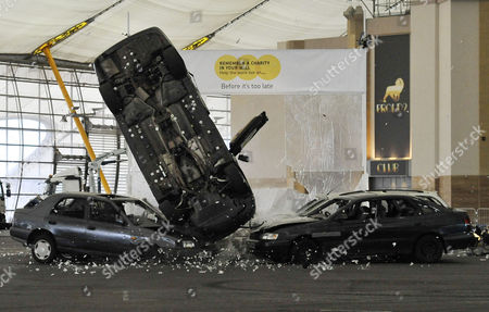 Rocky Taylor performing the stunt