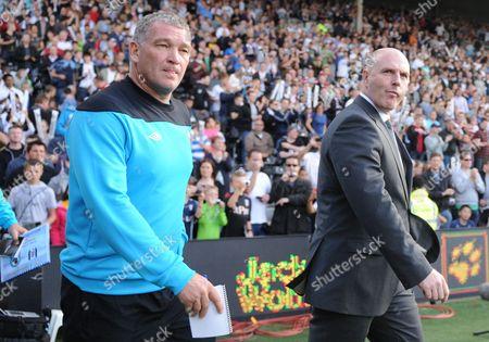 Blackburn Rovers manager Steve Kean, right, and assistant John Jensen