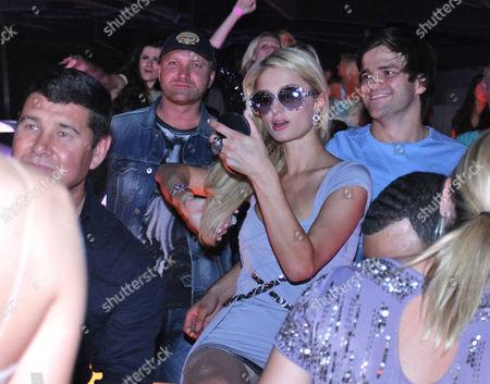 Stock Picture of Aleksandr Onishenko and Paris Hilton