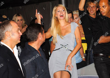 Aleksandr Onishenko and Paris Hilton