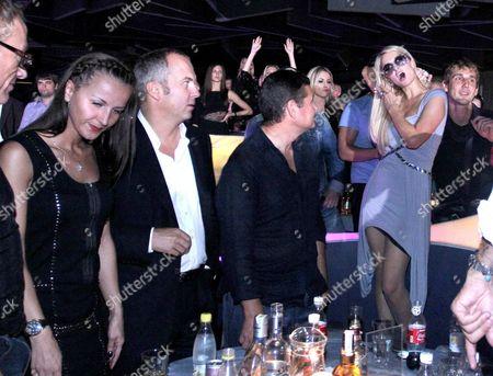 Stock Image of Aleksandr Onishenko and Paris Hilton