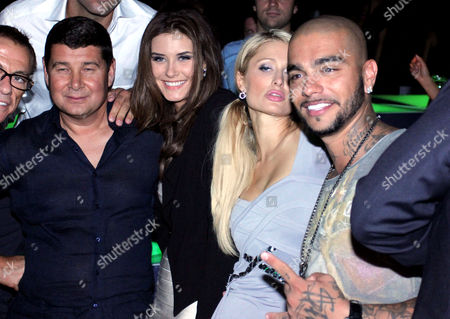 Stock Photo of Aleksandr Onishenko, Sofiya Rudeva, Paris Hilton and Timur Yunusov