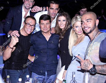 Jean-Claude Van Damme, Aleksandr Onishenko, Sofiya Rudeva, Paris Hilton and Timur Yunusov