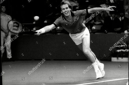 John Lloyd In His Match Against Peter Fleming At The Benson And Hedges Championship At Wembley
