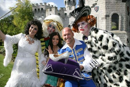 Stock Picture of Lesley Joseph, Ben Stock and Adam Stafford, Gemma James and Matt Slack