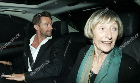 Stock Image of Hugh Jackman and mother Grace Watson