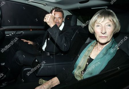 Editorial photo of Hugh Jackman and mother leaving The Punchbowl, London, Britain - 14 Sep 2011