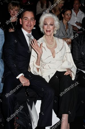 Stock Image of Carmen Dell'Orefice (right) and Graydon Parrish (left)