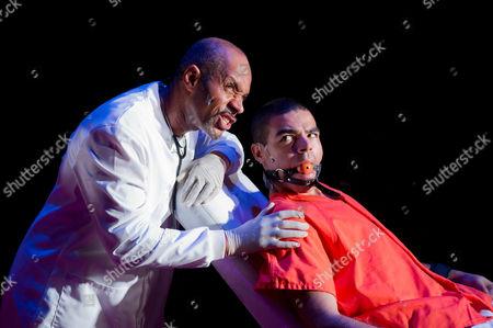 'A Clockwork Orange' - Richard Lloyd-King (as Doctor) and Ashley Hunter (as Alex)