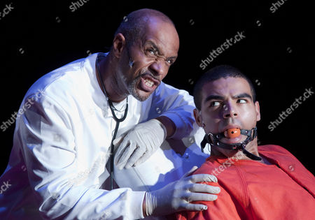 'A Clockwork Orange' - Richard Lloyd-King as Dr Brodsky and Ashley Hunter as Alex