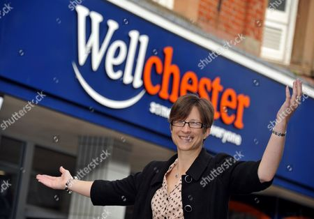 Claire Robertson outside the newly renamed 'Wellchester' store