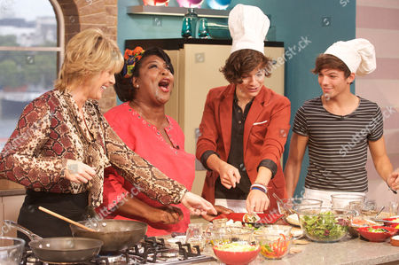 Ruth Langsford, Rusty Lee and One Direction - Harry Stiles and Louis Tomlinson