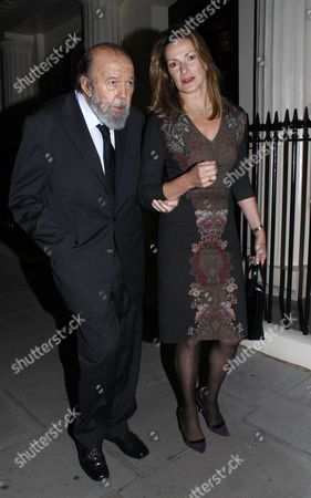 Stock Photo of Sir Peter Hall and wife Nikki Frei