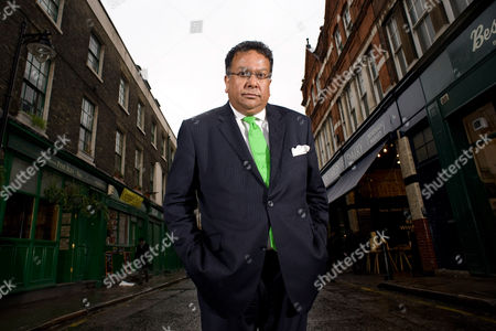 Stock Image of Iqbal Wahhab at Roast, his resturant in Borough Market, London.