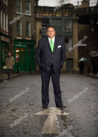 Stock Picture of Iqbal Wahhab at Roast, his resturant in Borough Market, London.