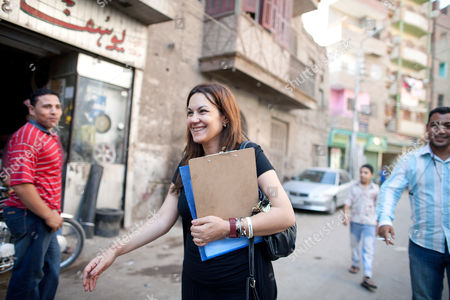 Bothaina Kamel on the campaign trail