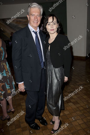Brian Protheroe and Tara Fitzgerald at the after party