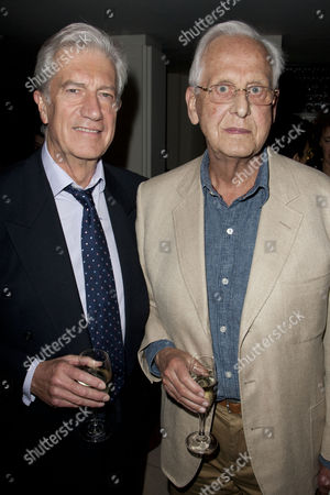 Brian Protheroe and Michael Blakemore at the after party