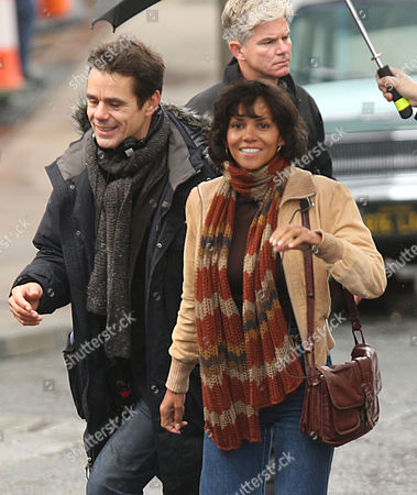 Stock Image of Director Tom Twyker with Halle Berry