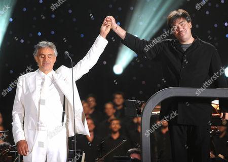 Andrea Bocelli and Alan Gilbert