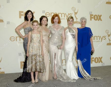 Elisabeth Moss, Christina Hendricks, Kiernan Shipka, Randee Heller, Jessica Pare and Cara Buono