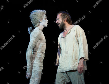 Tom Byam Shaw as Ariel and Ralph Fiennes as Prospero