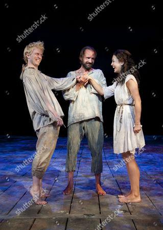 Michael Benz as Ferdinand, Ralph Fiennes as Prospero and Elisabeth Hopper as Miranda