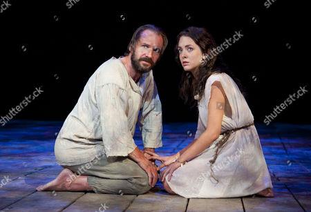 Ralph Fiennes as Prospero and Elisabeth Hopper as Miranda