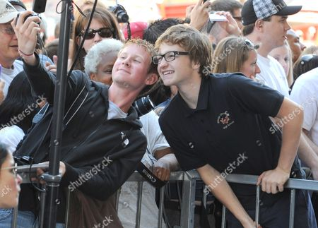 Angus T. Jones with fans
