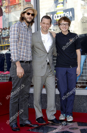 Ashton Kutcher, Jon Cryer and Angus T. Jones